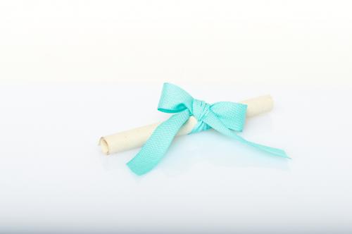 Immagine Pergamena fiocco azzurro
