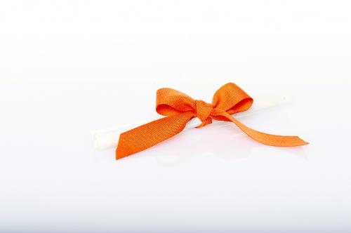 Immagine Pergamena fiocco arancione