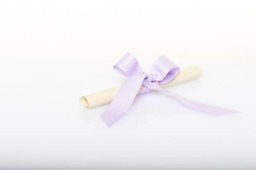 Immagine Pergamena fiocco lilla