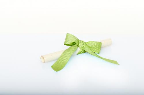 Immagine Pergamena fiocco verde